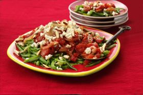 ... Farm® frozen organic French-cut green beans with toasted almonds