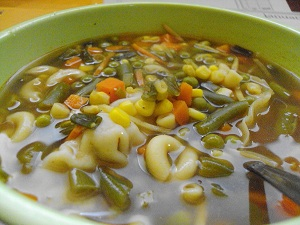 veggie potsticker soup