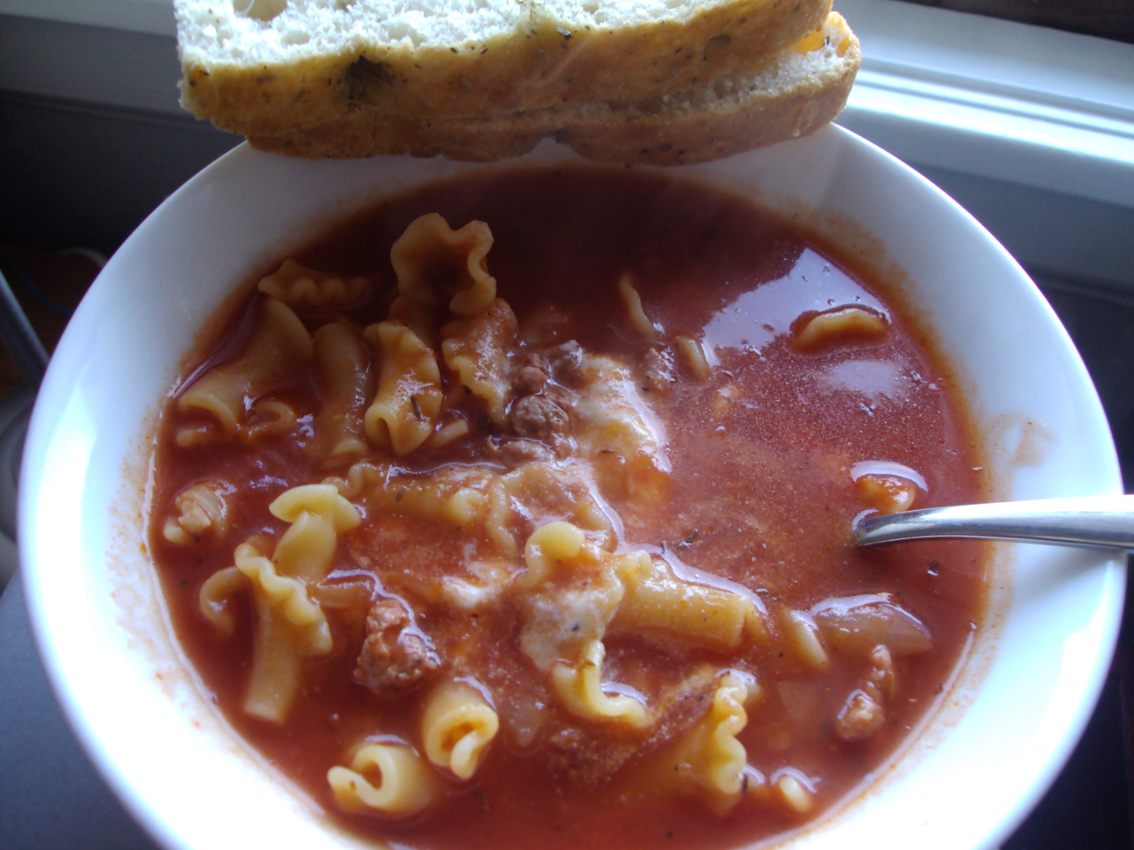 LASAGNA SOUP AND EGG ROLLS 007