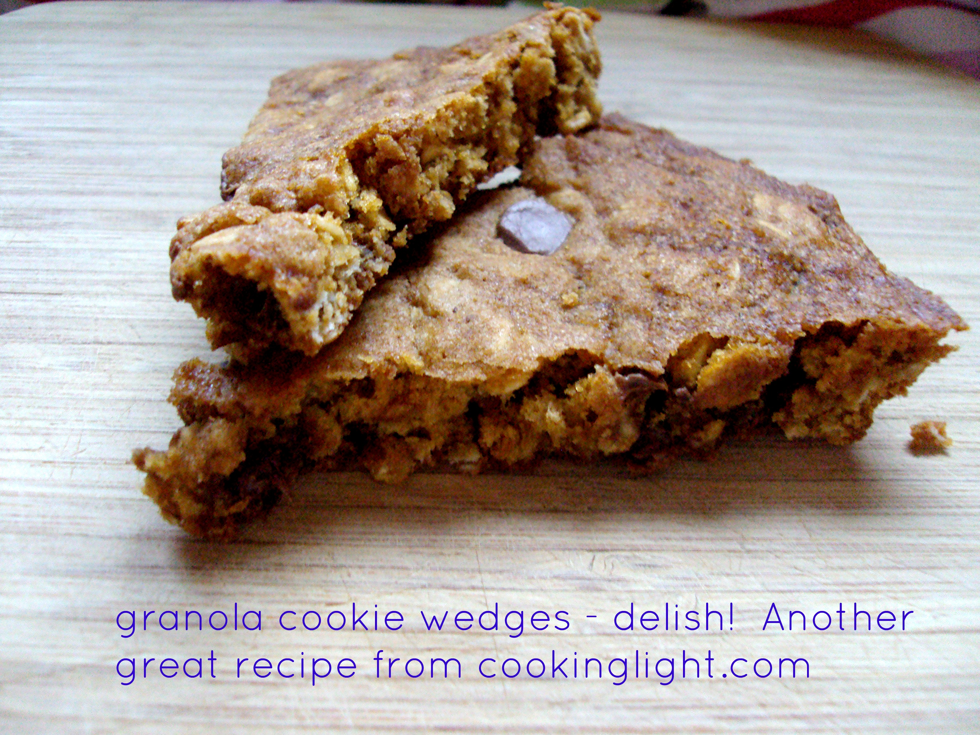 granola cookie wedges picmonkey