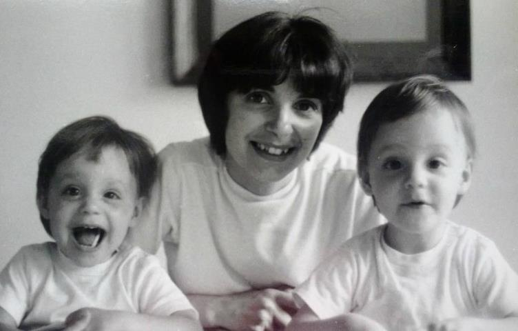 me biz and momma - twins age 2