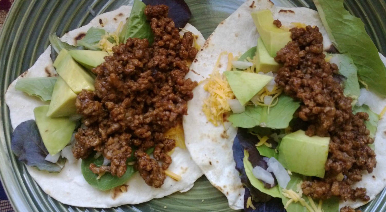 tacos with homemade tortillas