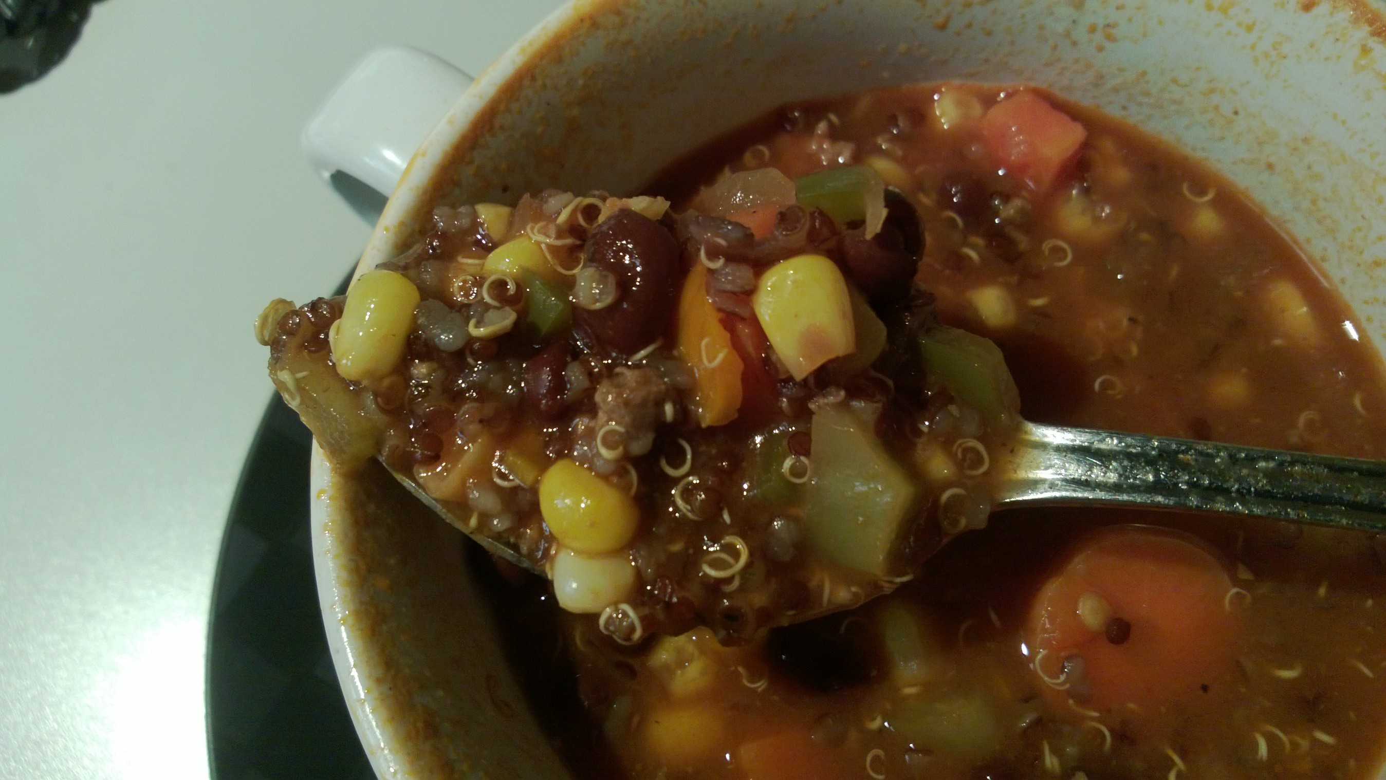 taco soup on spoon 09-09-13
