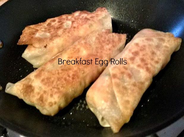 scrambled egg egg rolls