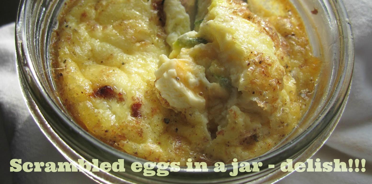 scrambled egg in a jar